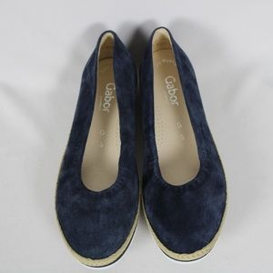 NEW Gabor Suede Navy Ballet Low Wedge Shoes #3392, used for sale